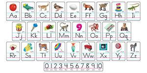 trend photo alphabet card abc line classroom display board set ebay