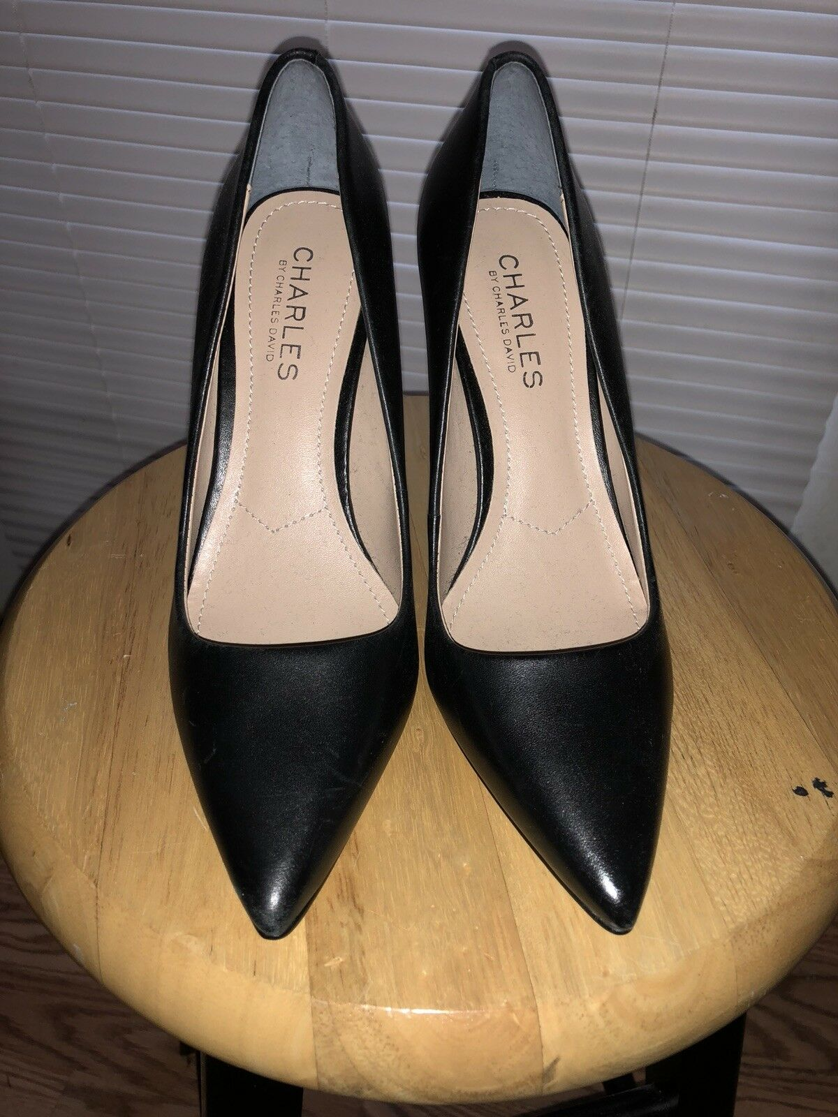 charles by david charles david by leather black womens pumps 5.2 745a77