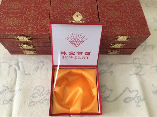 Fine Chinois Vert Naturel Fleur Bracelet Jonc Jade fait main