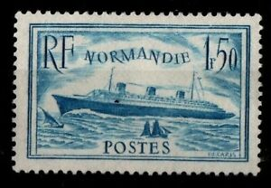Le-NORMANDIE-Bleu-Ciel-Neuf-Cote-70-Lot-Timbre-France-300