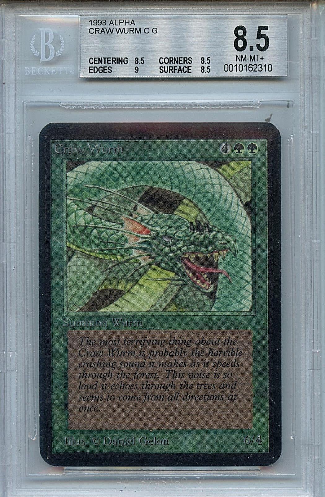 MTG Alpha Craw Wurm BGS 8.5 NM MT+ MT+ MT+ Card  Magic Amricons 2310 73c3f9