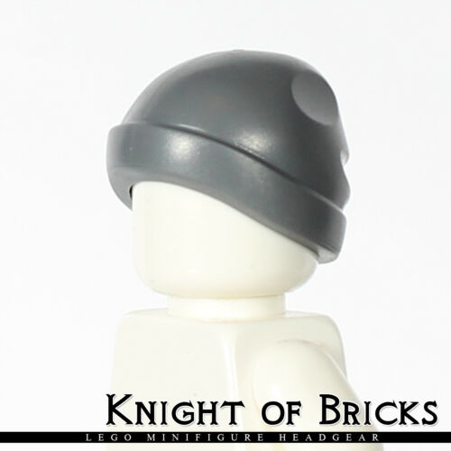 LEGO Minifigure DARK GRAY Girl Boy Male Female Headgear Cap Ski Beanie