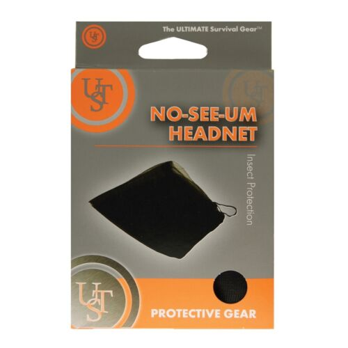 6-Pack Ultimate Survival Technologies No-See-Um Head Net Black Camping Mosquito