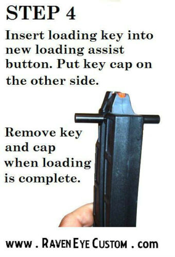 speedloader and 2 BLUE loading assist buttons SW M/&P 15-22 Loading assist tool