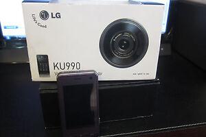 lg viewty ku990 desbloqueado rosa gsm 5m pix tel fono celular ebay rh ebay com LG KU990 Software LG Cookie