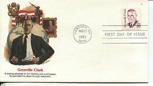 GREAT-AMERICANS-SERIES-ISSUE-GRANVILLE-CLARK-FLEETWOOD-CACHET-amp-STORY-U-A-FDC