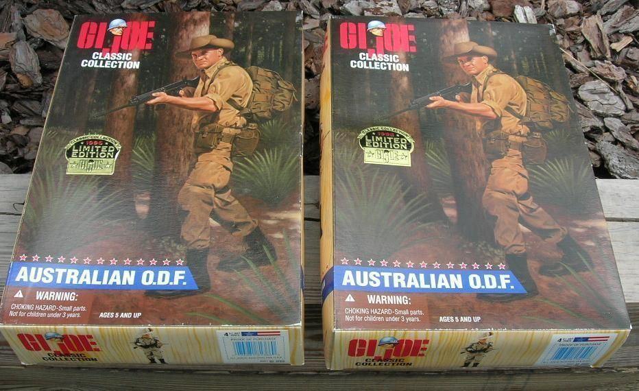TWO 1996 12  GI Joe Australian O.D.F. Variations NIB