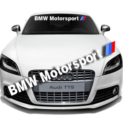 Car Front Windshield Window Exterior Banner Decal Sticker For BMW Motorsports
