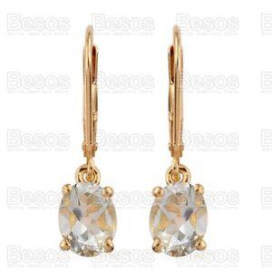 2ct-GREEN-AMETHYST-dropper-earrings-14K-Gold-solid-Sterling-Silver-925-UK-GIFT