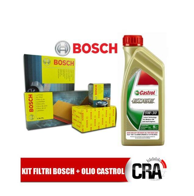 Kit tagliando olio CASTROL EDGE 5W30 5LT 4 FILTRI BOSCH AUDI A4 B7 2.0 TDI BPW