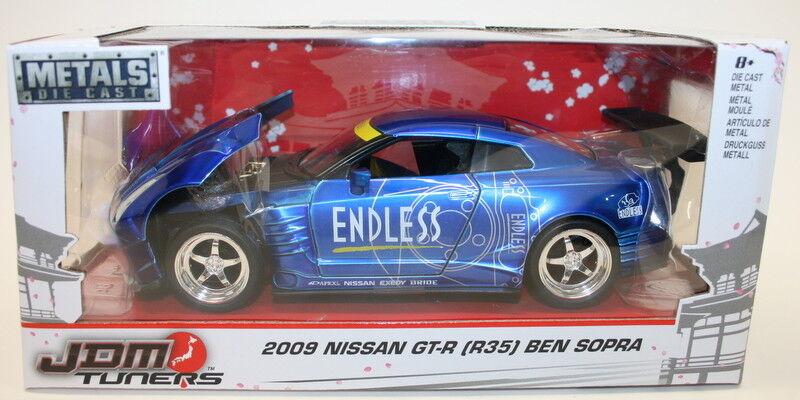 Jada 1 24 Scale Car 98647 - JDM Tuners 2009 Nissan GT-R R35 Ben Sopra - Blau