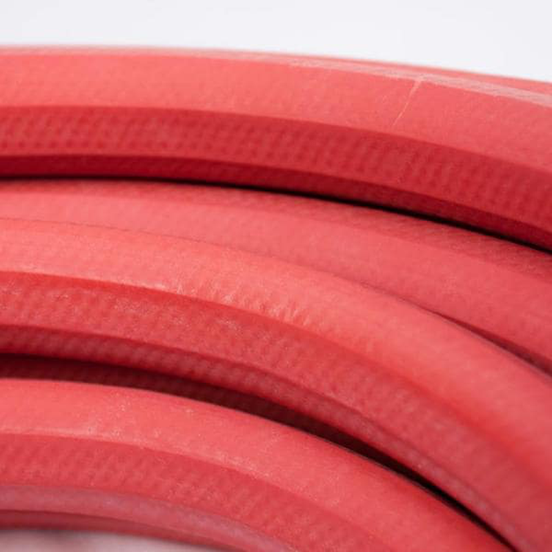 5/8 in x 50 ft Hot Water Garden Hose Rubber Crush Resistant Heavy Duty Red New