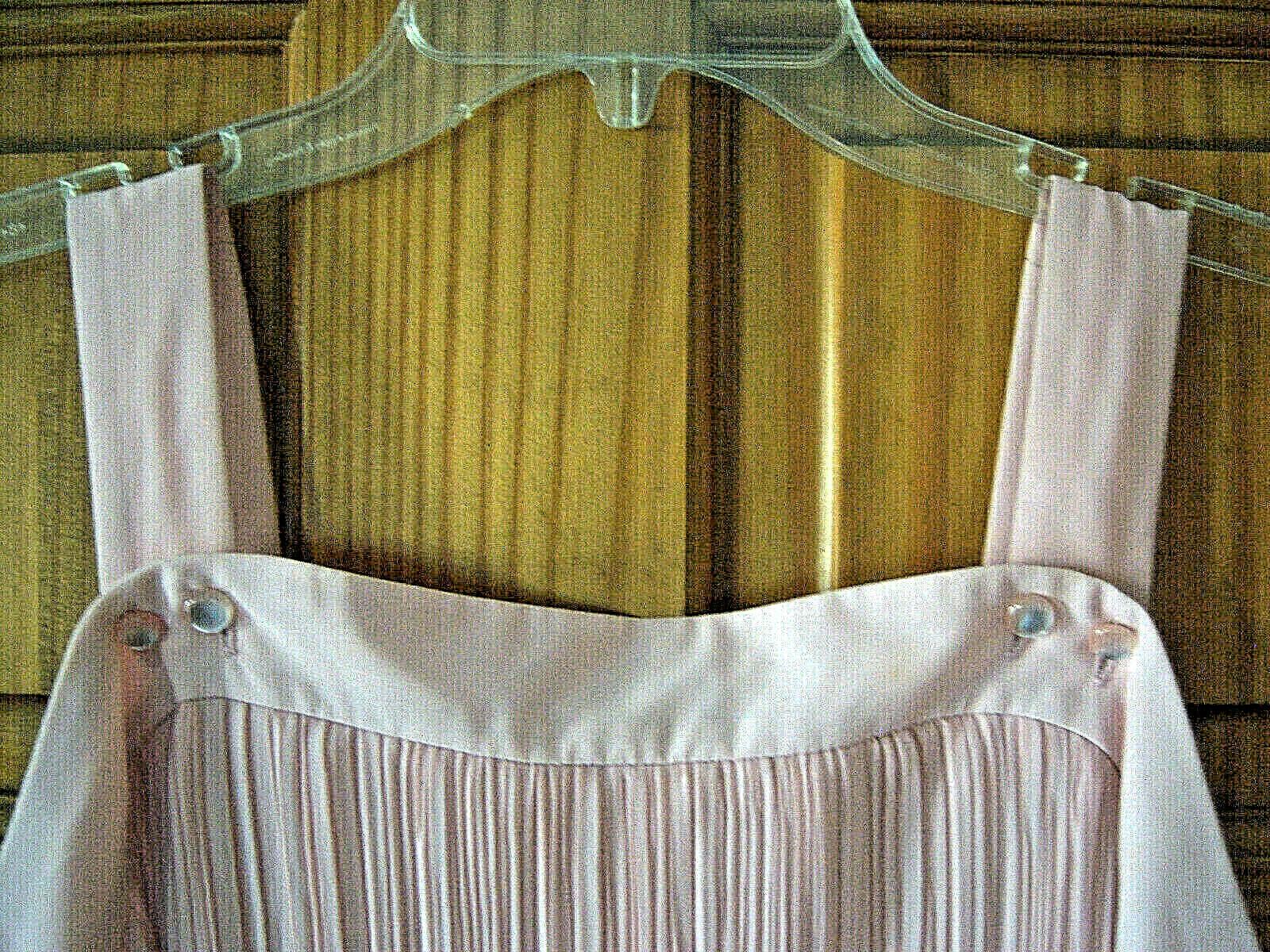 Women's fancy chiffon dress size L dusty rose pink - image 6