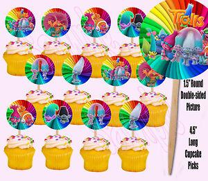 Trolls-Dreamworks-Movie-Double-Sided-Cupcake-Picks-Cake-Toppers-12-pcs-Poppy