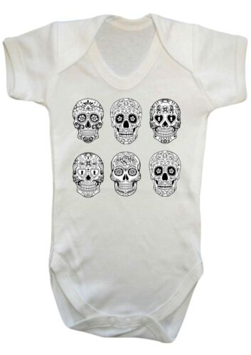 BABY BOY,GIRL mexican day of the dead skulls,sugar skull bodysuit,vest,romper