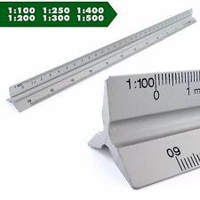 Dreikant Maßstab dreieckig Lineal Aluminium Architekt Maschinenbau Skalierung