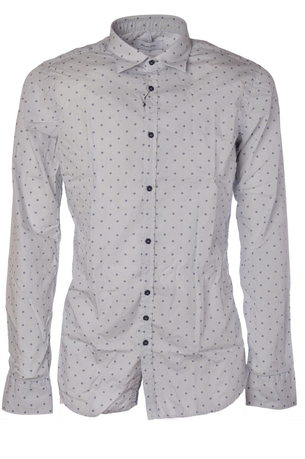 Aglini - Camicie-Camicia - Uomo - Bianco - 480515C183548