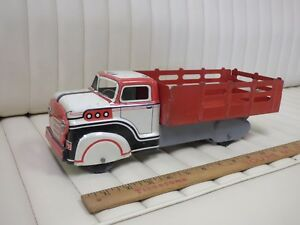 1950s-MARX-Delivery-Truck-Pressed-Steel-Lithographed-Toy