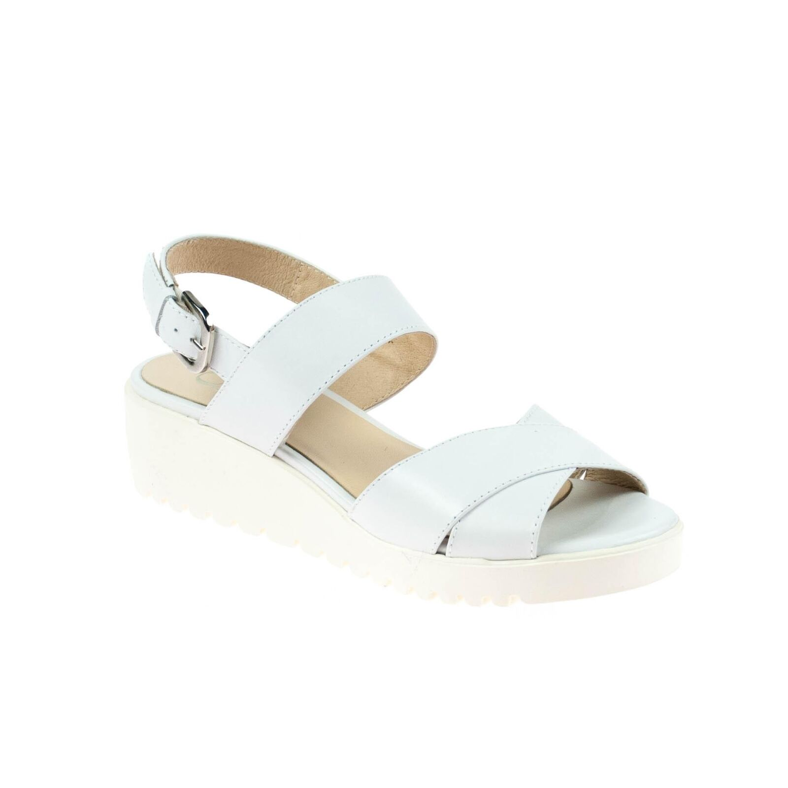 Último gran descuento Gadea Damen Sandale Leder Weiß