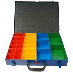 Sortimentskoffer Sortimentskasten + 23 Kunststoffkästen
