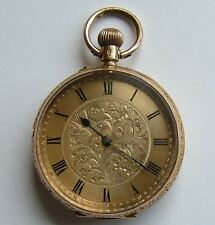 A very good, Antique 18ct Solid Gold Swiss Fob Pocket Watch, c1880