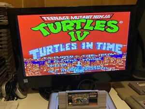 WORKING-SUPER-NINTENDO-SNES-GAME-CARTRIDGE-TMNT-IV-TURTLES-IN-TIME