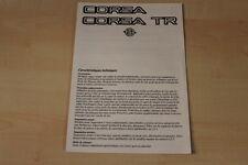 78045) Opel Corsa A + TR France - technische Daten & Ausstattungen - Prospekt 08