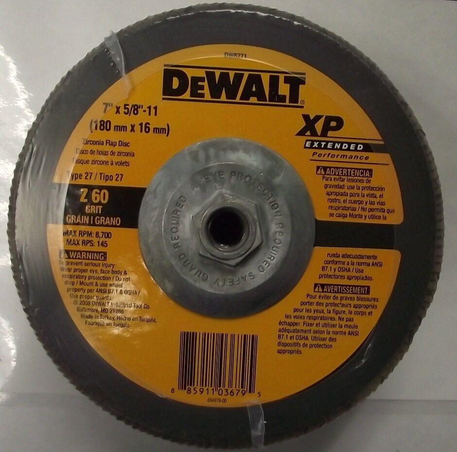 DEWALT DW8317 5-Inch by 7//8-Inch 60 Grit Zirconia Angle Grinder Flap Disc
