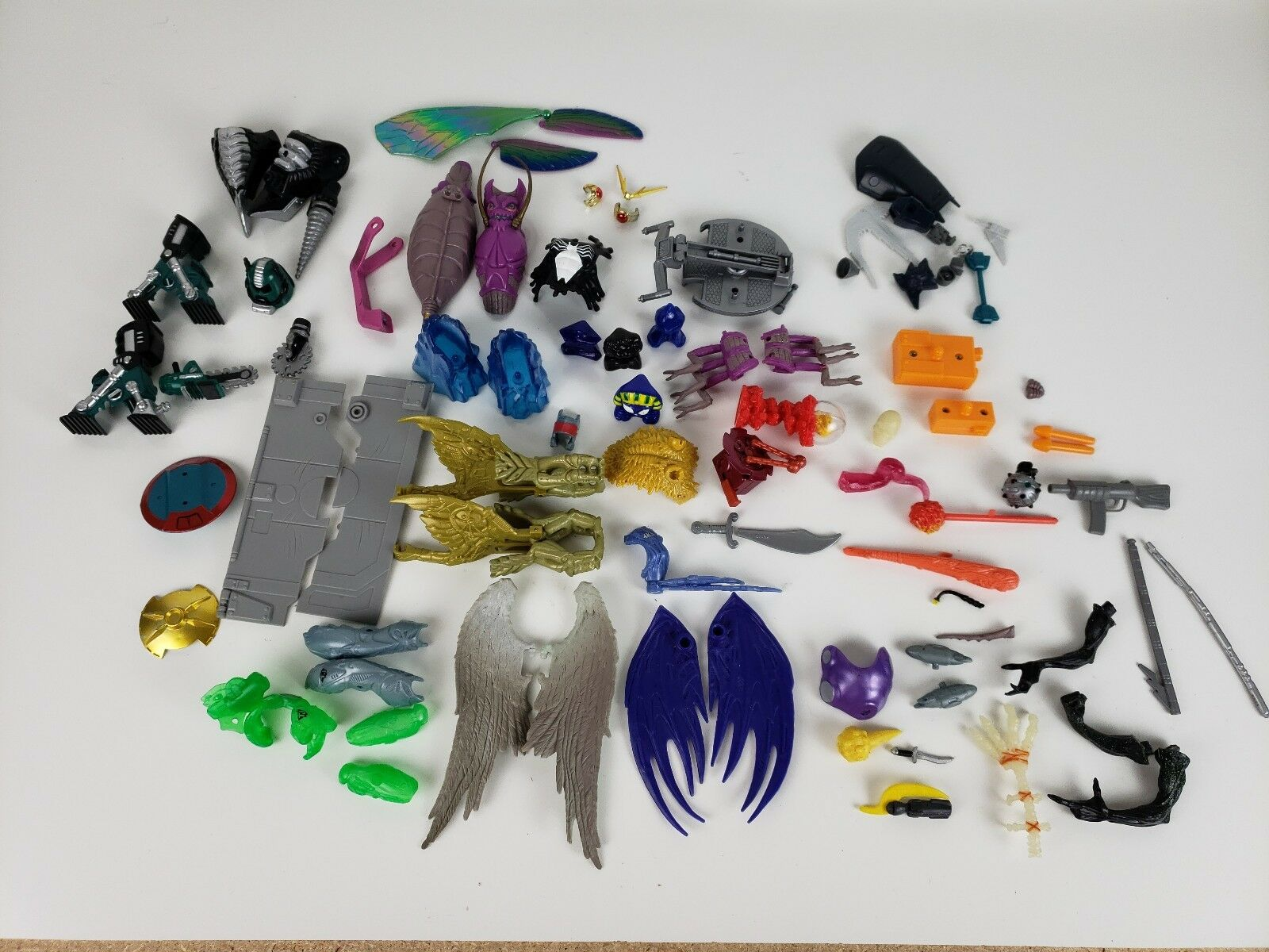 Huge lot of Marvel and more ToyBiz 90's Accessories Parts Weapons - Over 20