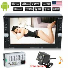 "6.6"" Double 2din Car Mp5 Player Bluetooth Touch Screen Stereo Radio HD Camera"