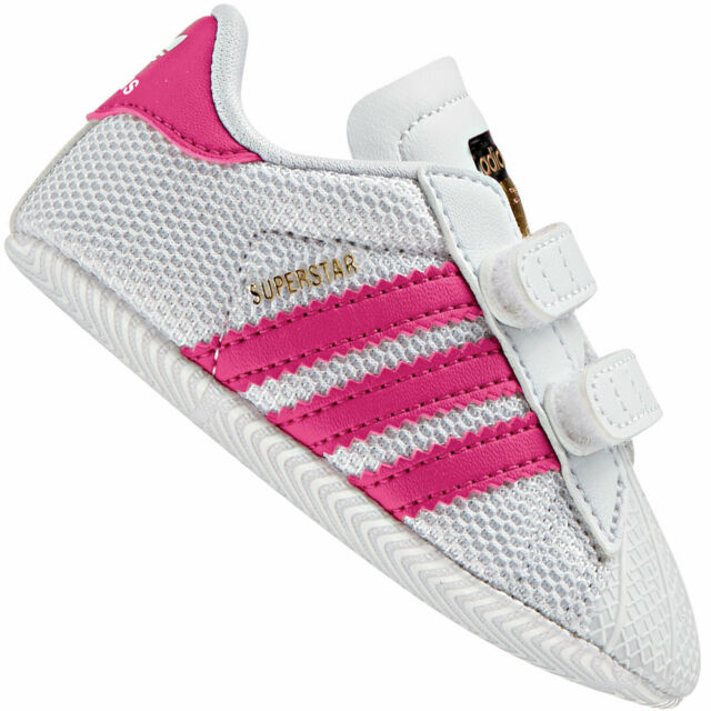85dd37ea33042 adidas Originals Superstar Crib White Mesh Soft Soles 5 UK Child ...