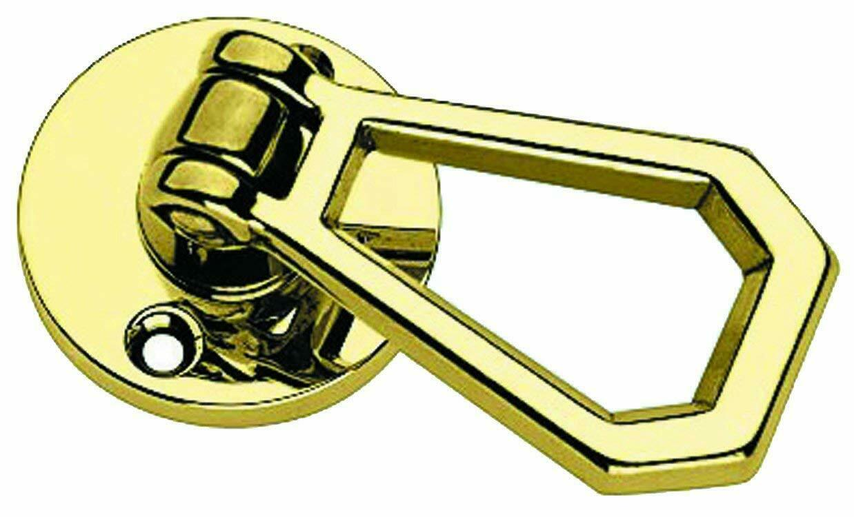 Entech 490 coppia maniglie con pinktta ad anello otone lucido d. 45 mm