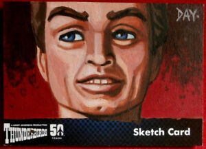 Details about THUNDERBIRDS 50 YEARS - UNIQUE SKETCH CARD by Welsh Artist  DAVID DAY - 2015