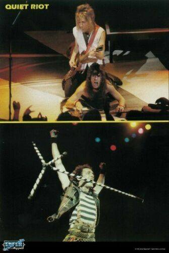 QUIET RIOT POSTER Live on Stage Collage RARE HOT NEW