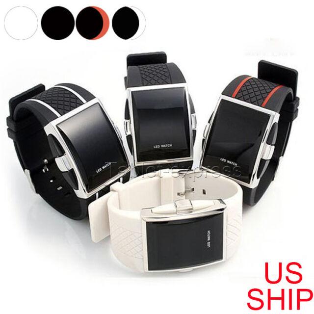 Fashion Men's LED Date Digital Mens Water Resistant Sport Black Wrist Watch