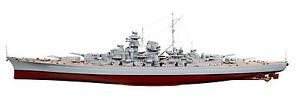 Naviscales # Ns-1000 Bismarck Zerstoererboot Inclusive Régulateurs,moteur,servo