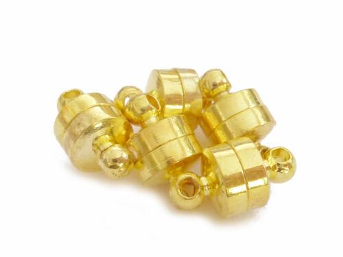 5 cierres magnéticos barrilete 10x5mm oro de colores perlas nenad-Design an069