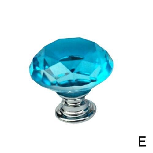 30mm Diamond Clear Crystal Glass Door Pull Drawer Knob Cabinet Super