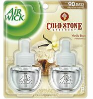 Air Wick Vanilla Bean Cold Stone Scented Oil Refill, Twin Pack (pack Of 3) on sale