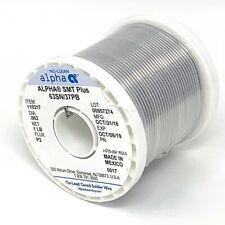 Alpha Smt Plus 63sn37pb 110317 Dia 062 Net 1lb Flux P2 Newunused Surplus