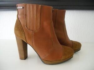 DIESEL-Boots-Ankle-Boots-Stiefeletten-Echtleder-Braun-Gr-39-Wie-neu