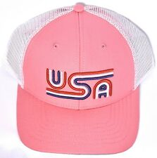 ed06a2ff0b0 item 2 USA Rowdy Gentleman Tri-Line Pink Mesh Hat Cap Adjustable To Good  Times  NEW  -USA Rowdy Gentleman Tri-Line Pink Mesh Hat Cap Adjustable To  Good ...