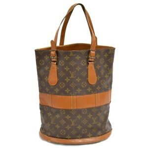 Louis-Vuitton-Bucket-GM-T42236-Monogram-Shoulder-Tote-Hand-Bag-Purse-Brown-LV