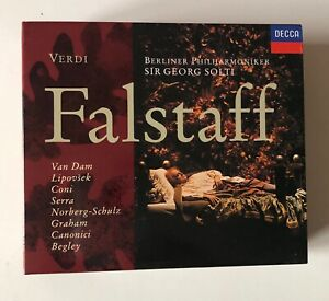 OPERA 2CD BOXSET GIUSEPPE VERDI FALSTAFF 1993 DECCA SOLTI VAN DAM LIPOVSECK CONI