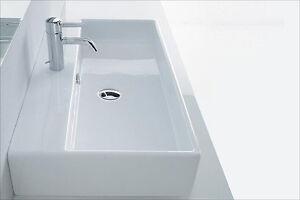 Aufsatzwaschbecken Aufsatz Waschtisch Waschbecken eckig 80 x 42 cm ... | {Waschbecken eckig 47}