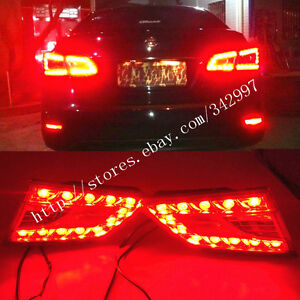 2x led rear red lens inner tail lights brake lights for