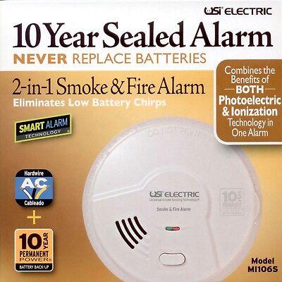 Fire Alarm 10 Year Battery Powered 2‐in‐1 Smart Smoke