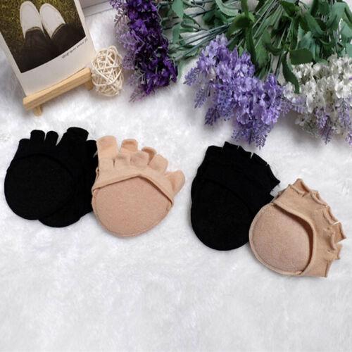 1 Pairs Forefoot Socks Non-slip Invisible Half Sock Open Toe Socks For Ladies F