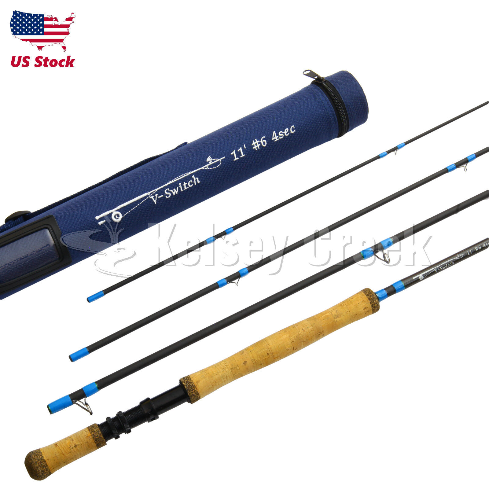 Maxcatch Switch Rod 10.5ft-11.5ft, 5wt-9wt, IM10 Carbon Fiber, spey Fliegen Rod