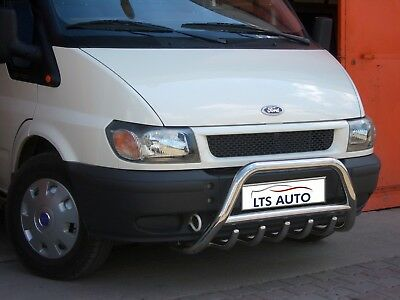 Ford Transit Chrome Bull Bar Axle Nudge A Bar 1995 2013 Stainless